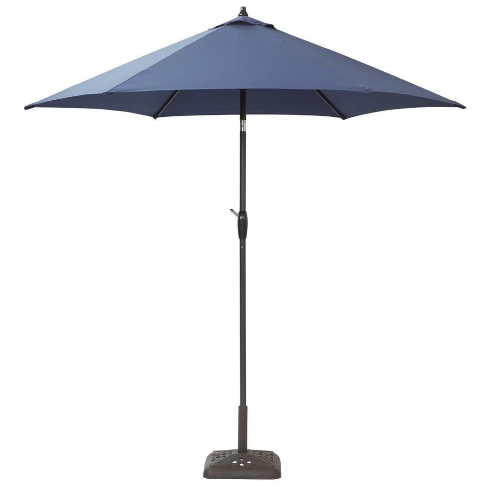 Well Liked Patio Umbrellas At Home Depot Regarding Hampton Bay 9 Ft (View 5 of 20)