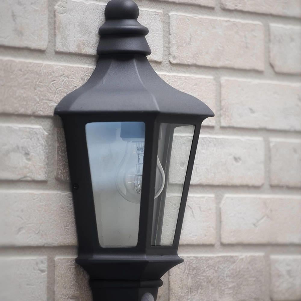 Well Liked Perry Outdoor Pir Half Lantern – Dark Grey From Litecraft In Outdoor Grey Lanterns (View 5 of 20)