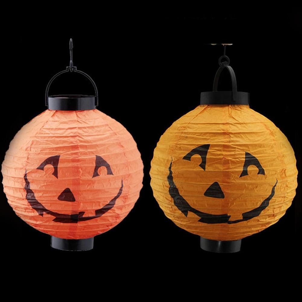 Well Liked Random Color Feative Lanterns Pumpkin Light Halloween Decoration Throughout Outdoor Pumpkin Lanterns (View 12 of 20)