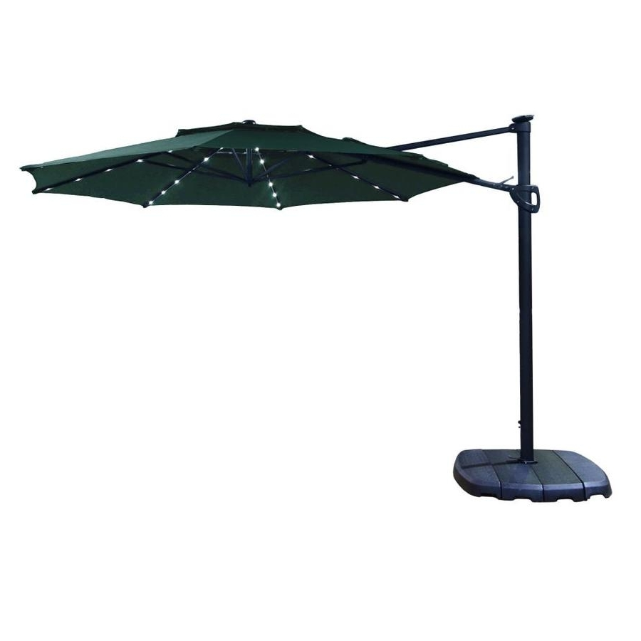 Well Liked Shop Simply Shade Forest Offset 11 Ft Patio Umbrella With Base At Inside 11 Ft Patio Umbrellas (View 19 of 20)
