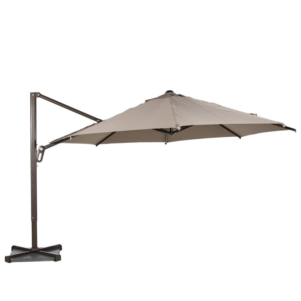 Well Liked Vented Patio Umbrellas With Abba Patio 11 Ft Octagon Cantilever Vented Tilt & Crank Lift Patio (View 18 of 20)
