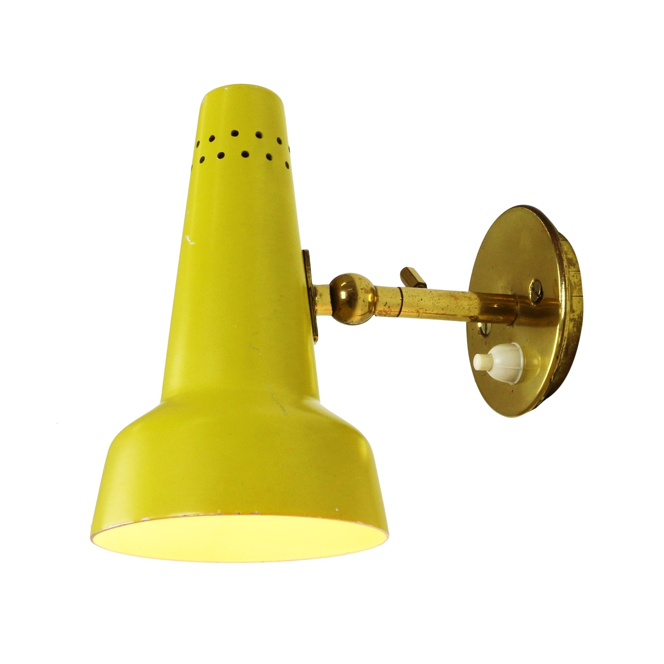 Well Liked Yellow Outdoor Lanterns Throughout Rare Bright Yellow Wall Light Arteluce Sconce Battery Operated (View 20 of 20)