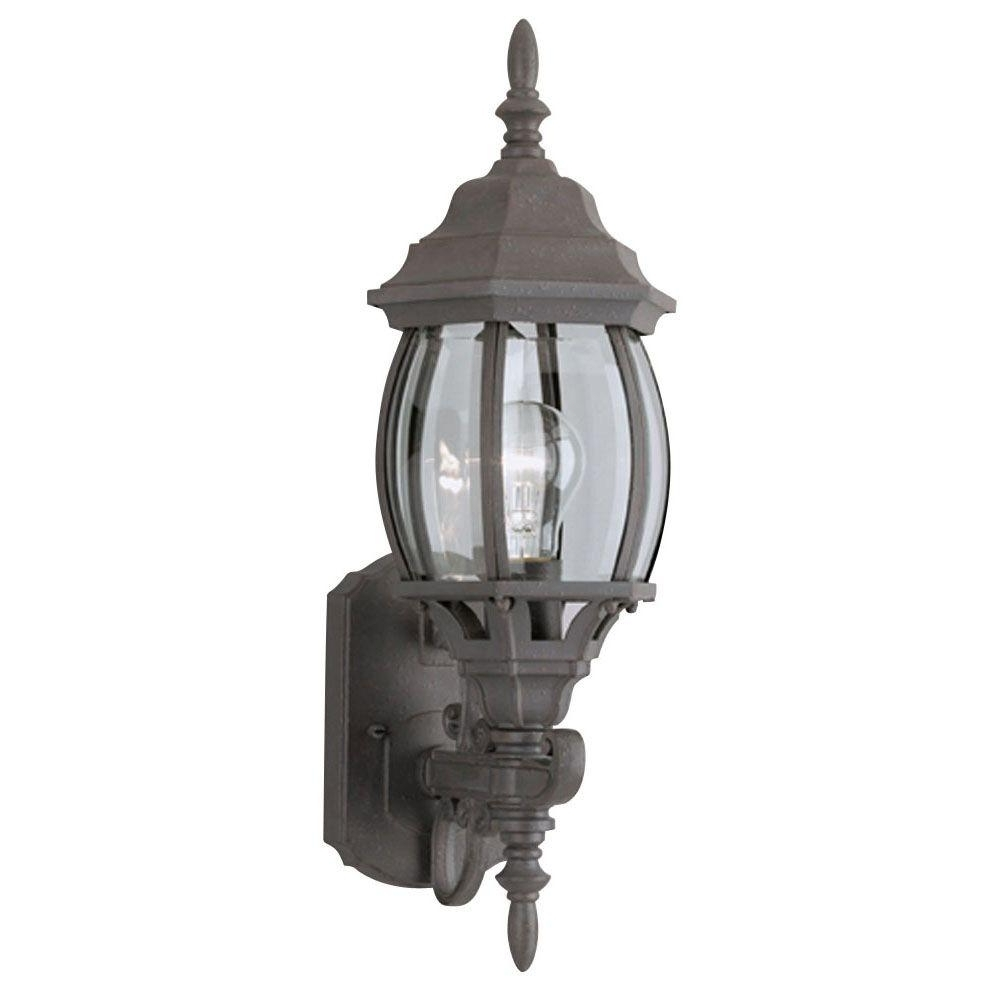 Westinghouse 1 Light Textured Rust Patina Exterior Wall Lantern With Inside Preferred Elegant Outdoor Lanterns (View 20 of 20)