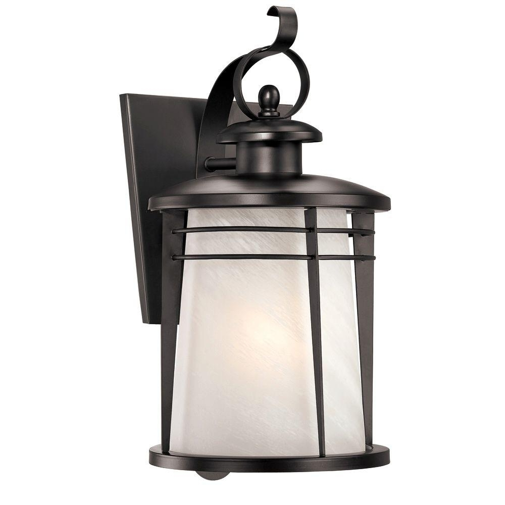 Westinghouse Senecaville Wall Mount 1 Light Outdoor Weathered Bronze Pertaining To Well Liked Quality Outdoor Lanterns (View 9 of 20)