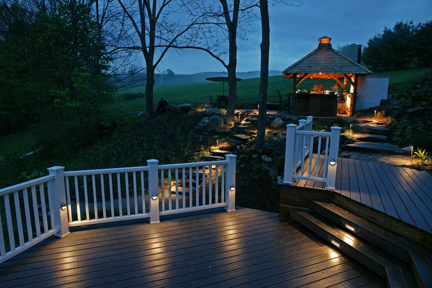 White Outdoor Deck Lighting Ideas : Lovely Outdoor Deck Lighting Within Well Known Outdoor Deck Lanterns (View 20 of 20)