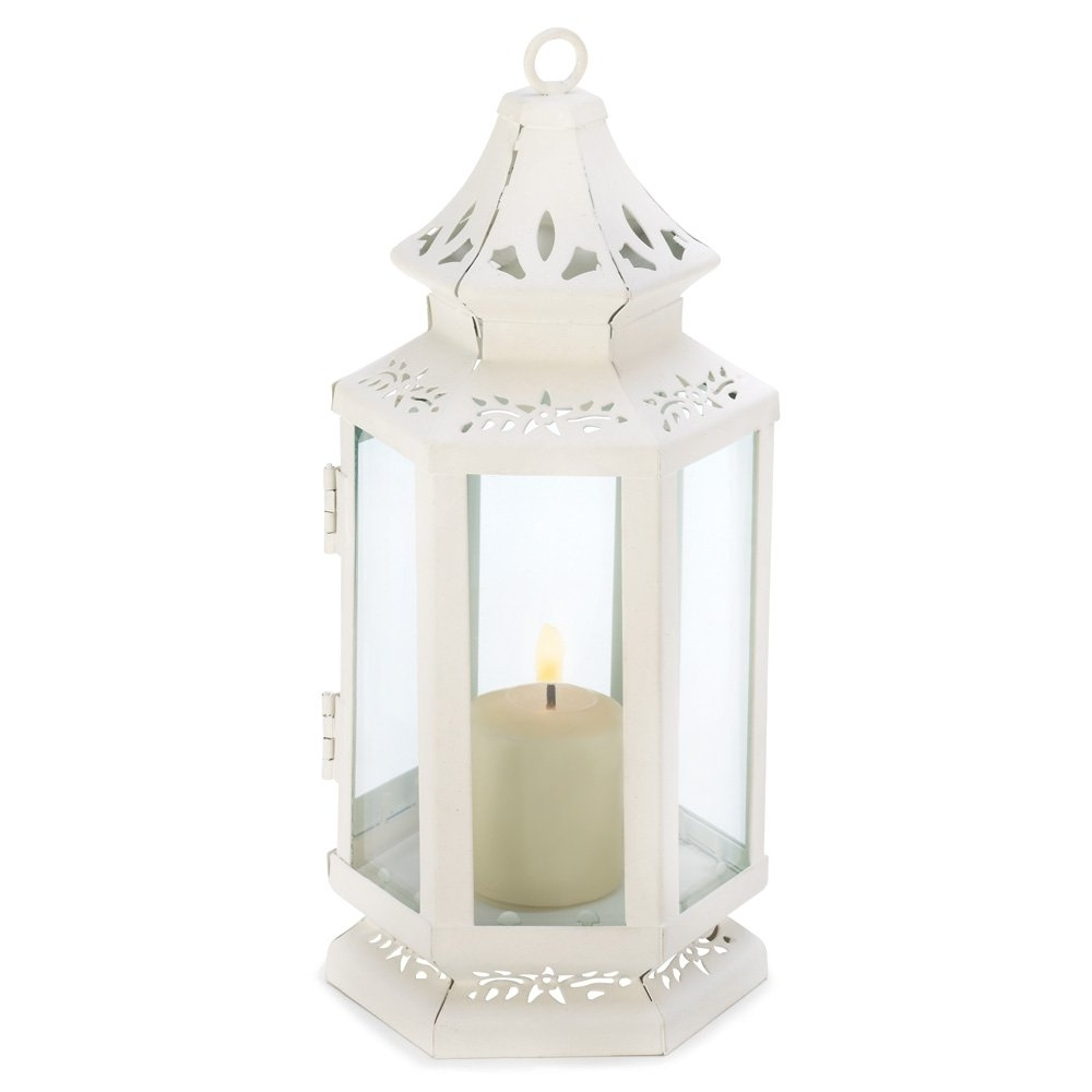 White Outdoor Lanterns Within Widely Used Lantern Candle White, Outdoor Antique Decor, Victorian Candle (View 18 of 20)