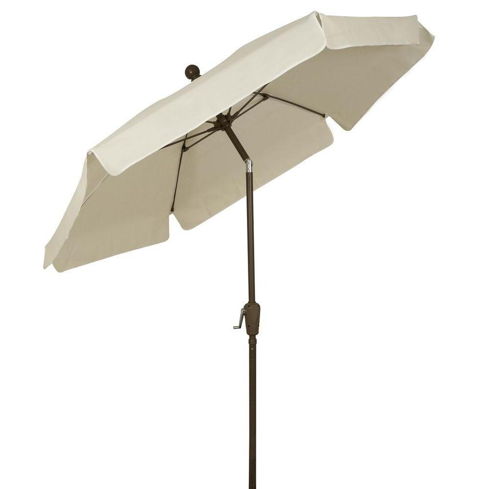 White Patio Umbrellas Throughout 2018 Fiberbuilt Umbrellas 7.5 Ft (View 19 of 20)