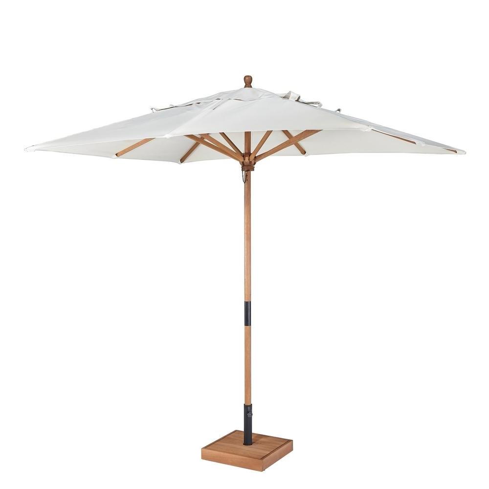White Patio Umbrellas Within 2019 Home Styles Bali Hai 9 Ft (View 11 of 20)