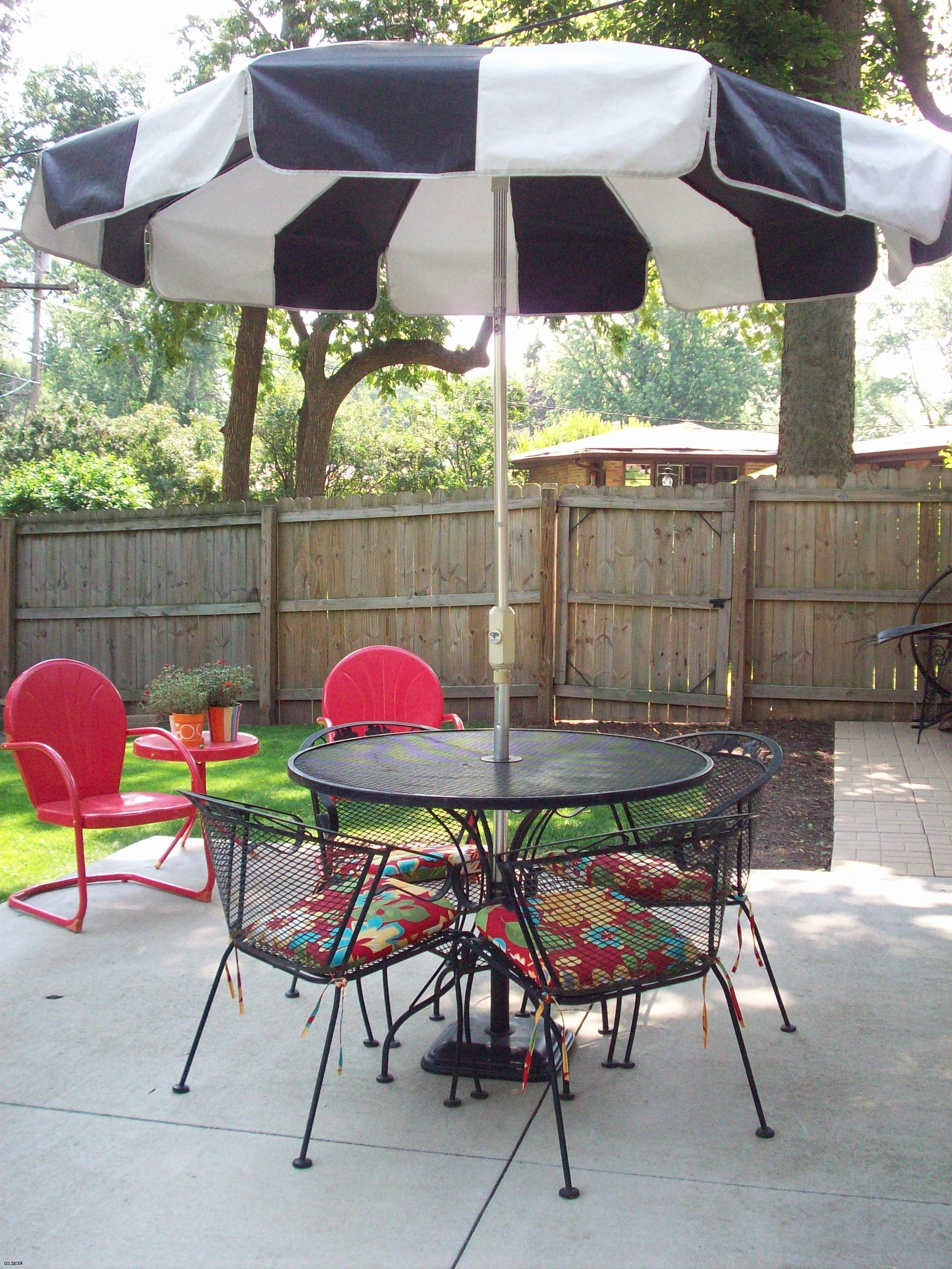 Widely Used Black And White Patio Umbrellas For Black And White Patio Umbrella (View 20 of 20)