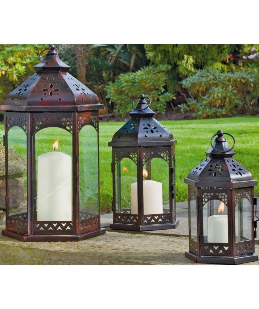 Widely Used Buy Zanzibar 3 Piece Lantern Set At Argos.co (View 4 of 20)