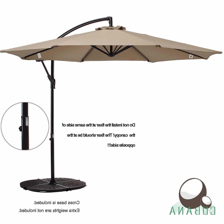 Widely Used Hanging Patio Umbrellas Regarding Top 10 Best Offset Patio Umbrellas 2018 – Buyer's Guide (april (View 17 of 20)