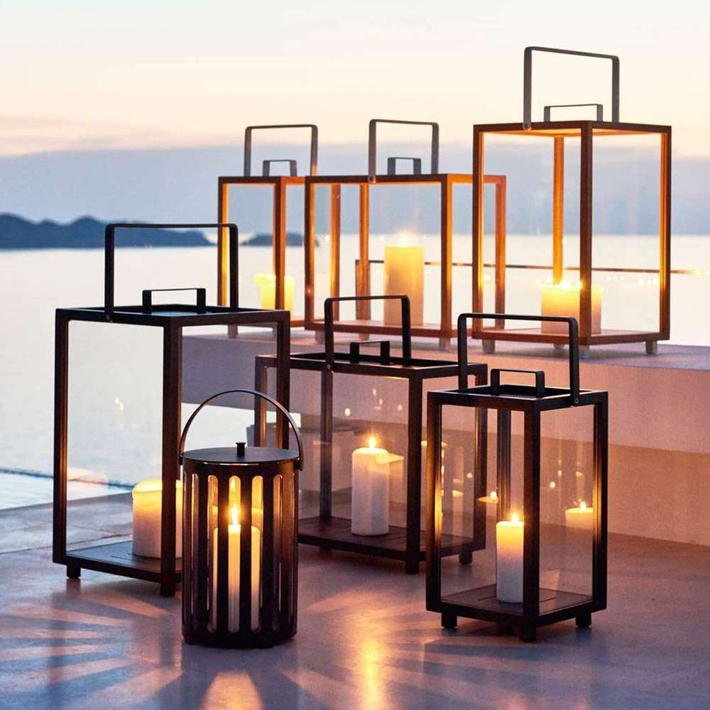 Widely Used Modern Outdoor Lanterns Regarding Modern Outdoor Table Lanterns – Outdoor Ideas (View 20 of 20)