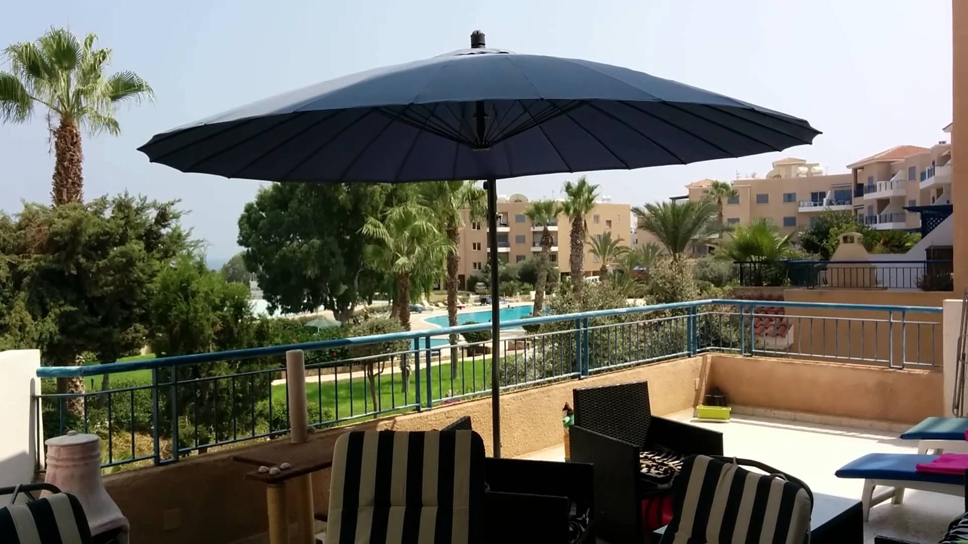 Widely Used Offset Umbrella In The Wind – Youtube Throughout Patio Umbrellas For Windy Locations (View 19 of 20)