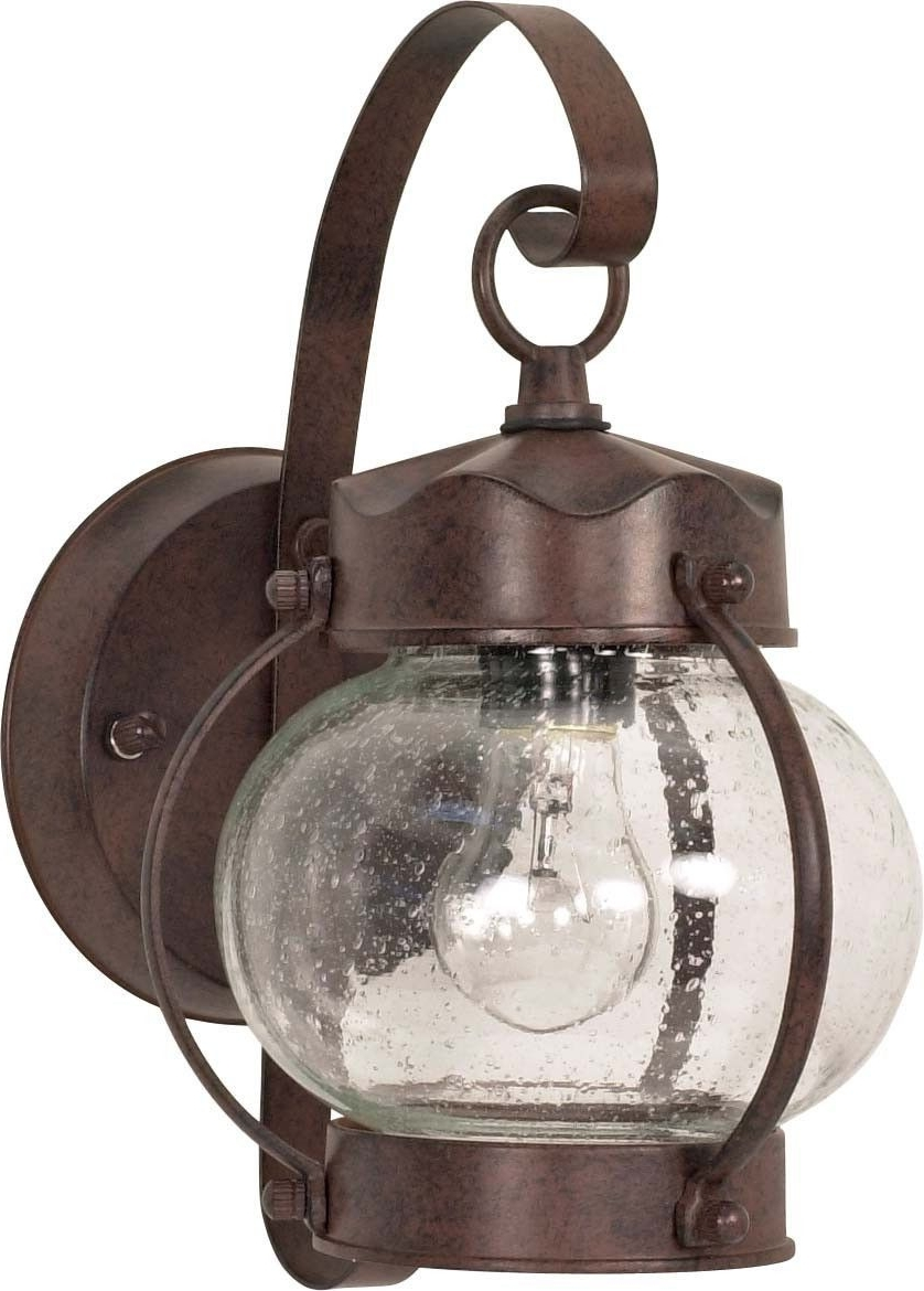 Widely Used Outdoor Lighting Onion Lanterns Pertaining To Nuvo 1 Light – 11 Inch – Wall Lantern – Onion Lantern W/ Clear Seed (View 12 of 20)