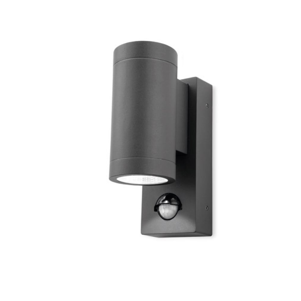 Widely Used Outdoor Pir Lanterns In Firstlight Shelby Outdoor 2 Light Led Wall Light In Graphite With (View 20 of 20)