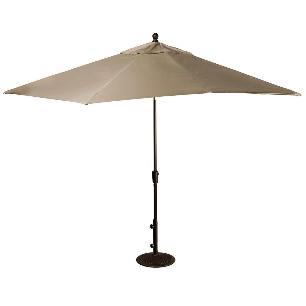 Widely Used Rectangular Sunbrella Patio Umbrellas Throughout Island Umbrella Caspian 8 Ft. X 10 Ft (View 10 of 20)