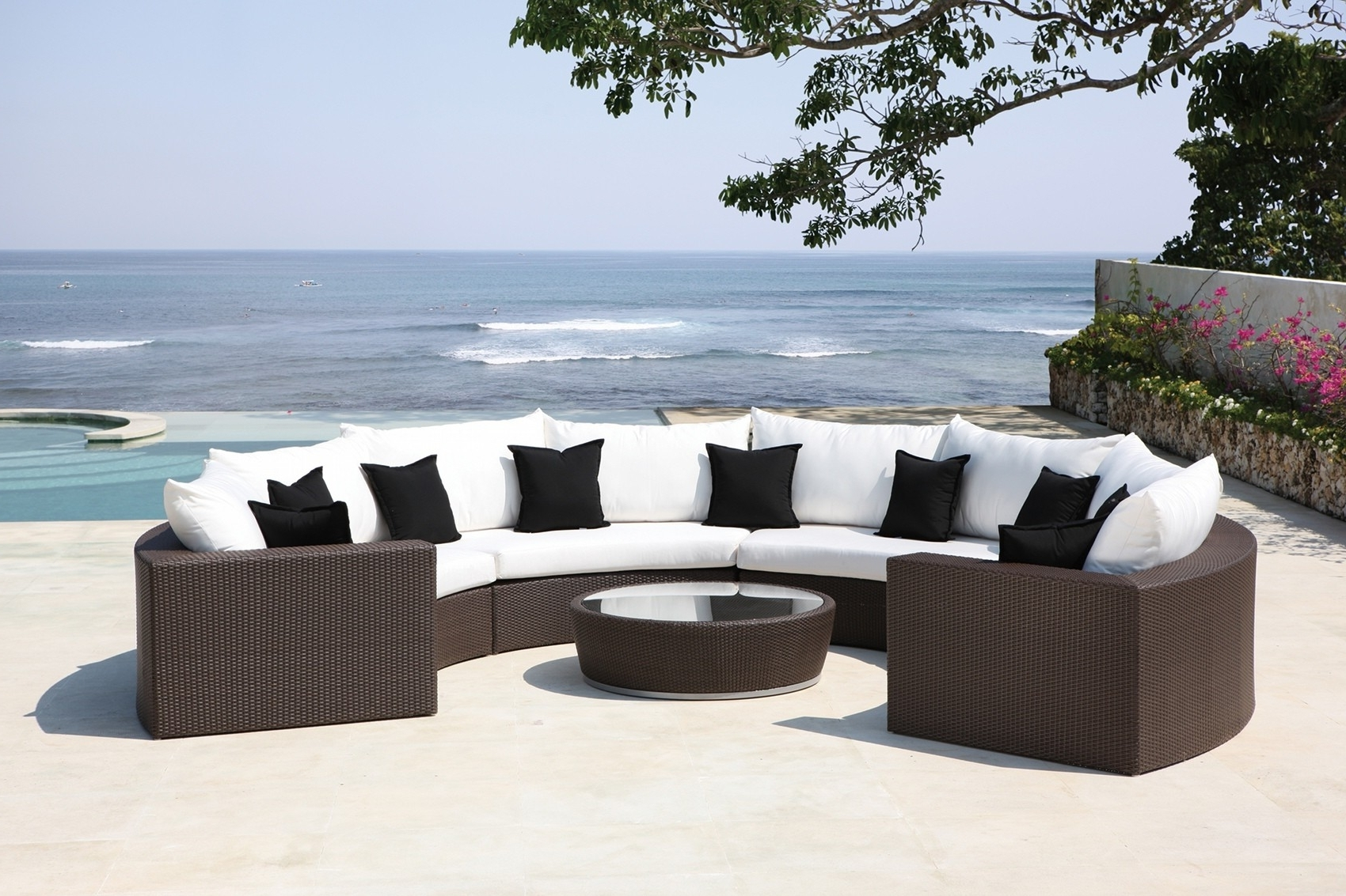 Widely Used Upscale Patio Umbrellas Regarding Patio: Amusing Luxury Patio Furniture Upscale Outdoor Furniture (View 5 of 20)