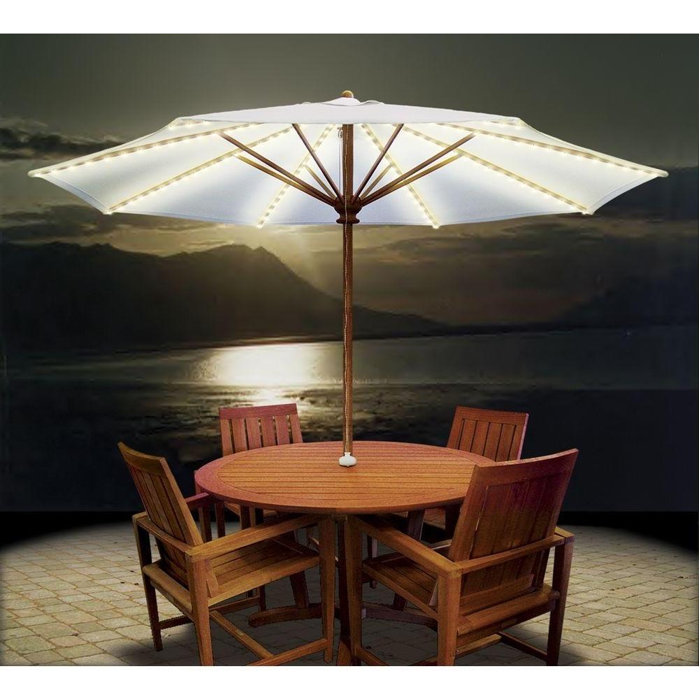 Wonderful Patio Umbrella Lights Umbrella Lights Solar And Patio On In Newest Outdoor Umbrella Lanterns (View 10 of 20)