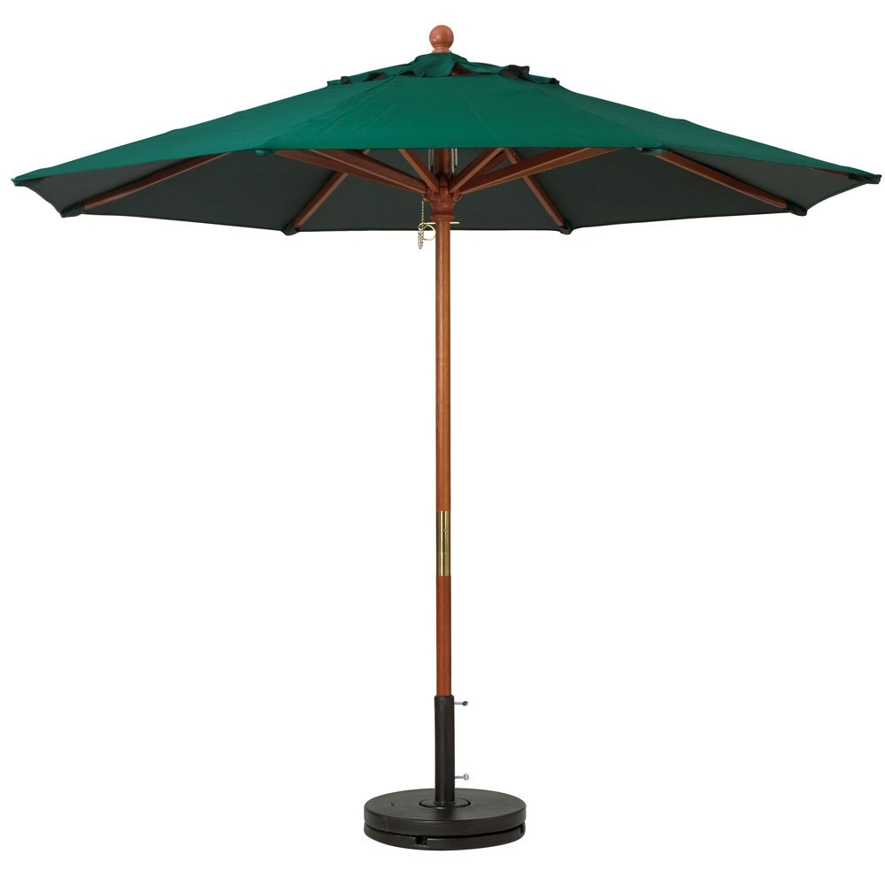 Wood Pole Patio Umbrellas Pertaining To Well Known Wooden Patio Umbrellas (View 18 of 20)