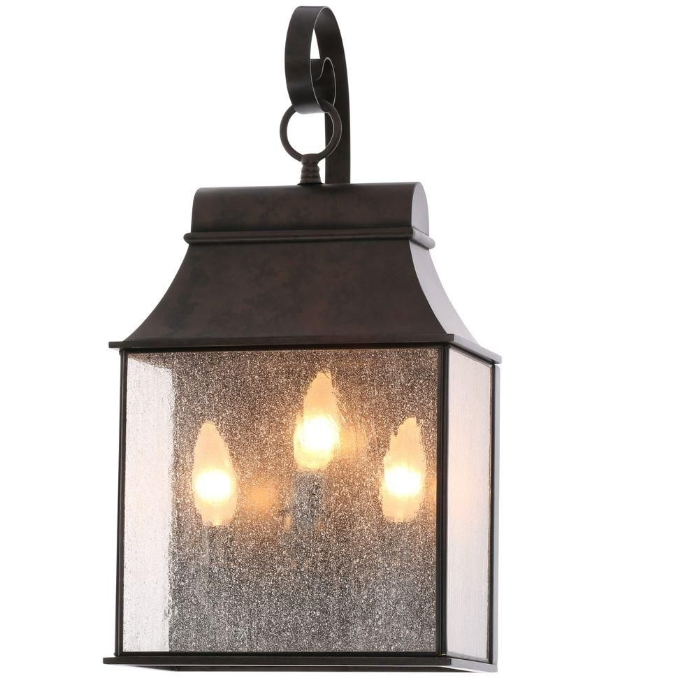 World Imports Revere Collection 3 Light Flemish Outdoor Wall Mount For Favorite Wall Mounted Outdoor Lanterns (View 7 of 20)