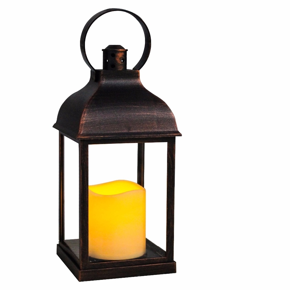 Wralwayslx Decorative Lanterns With Flameless Candles With Timer For Popular Outdoor Lanterns With Battery Candles (Gallery 14 of 20)