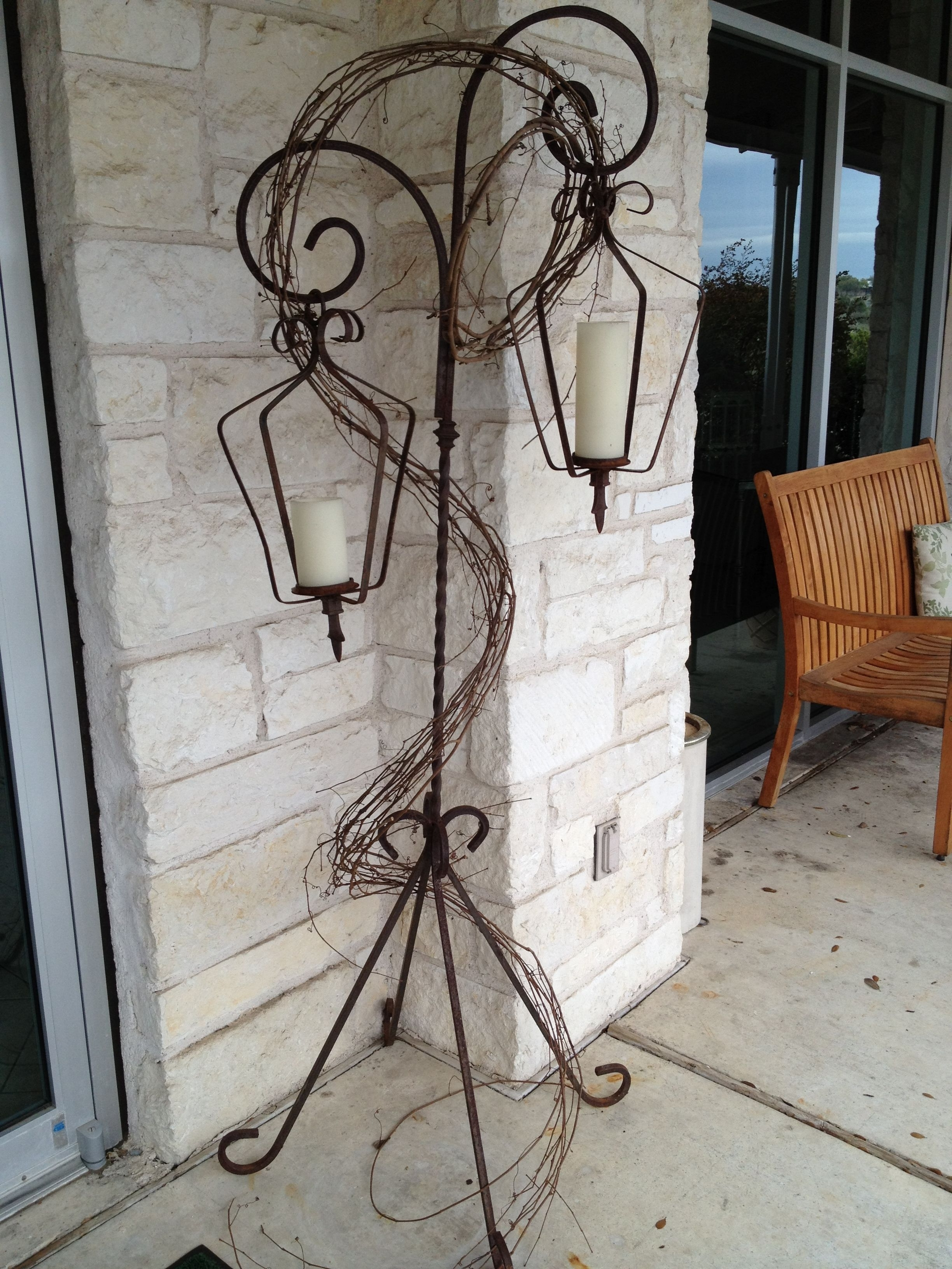 Wrought Iron Lanterns With Stands (View 18 of 20)