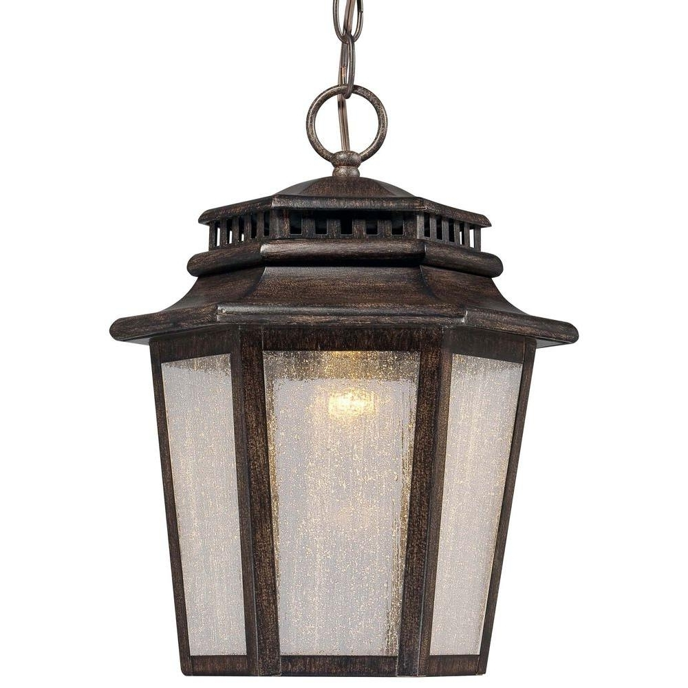 Wrought Iron – Outdoor Hanging Lights – Outdoor Ceiling Lighting Intended For 2018 Outdoor Cast Iron Lanterns (View 8 of 20)