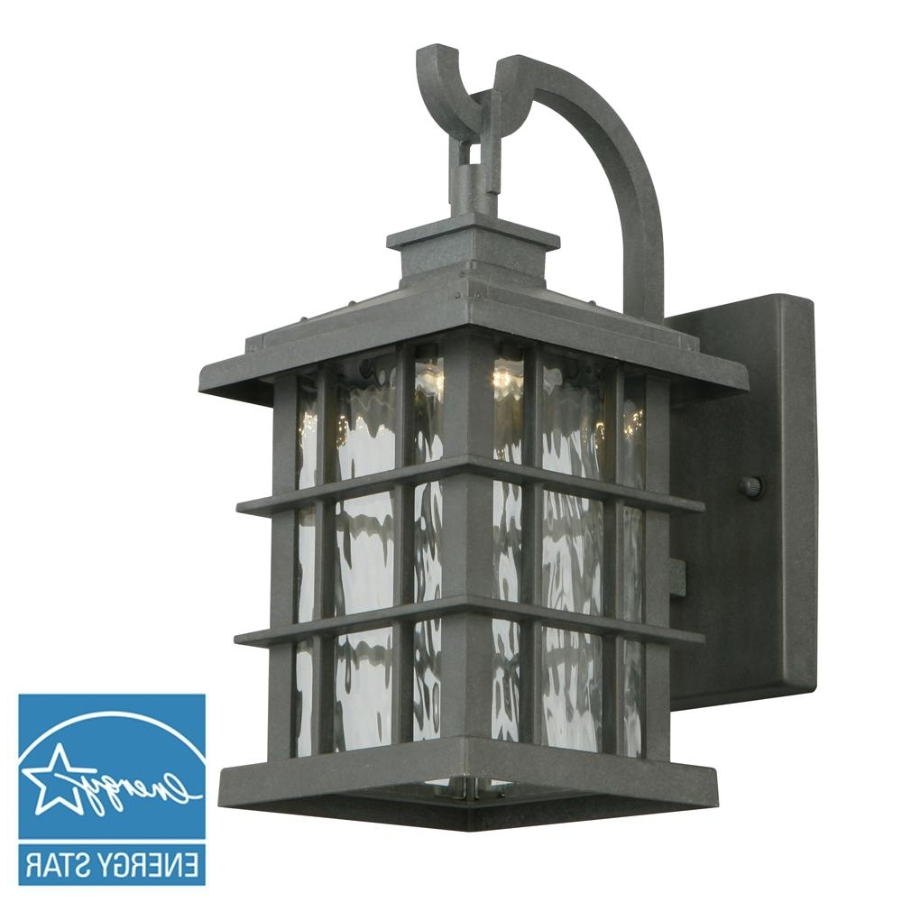 Wrought Iron Outdoor Wall Mounted Lighting Within Widely Used Cast