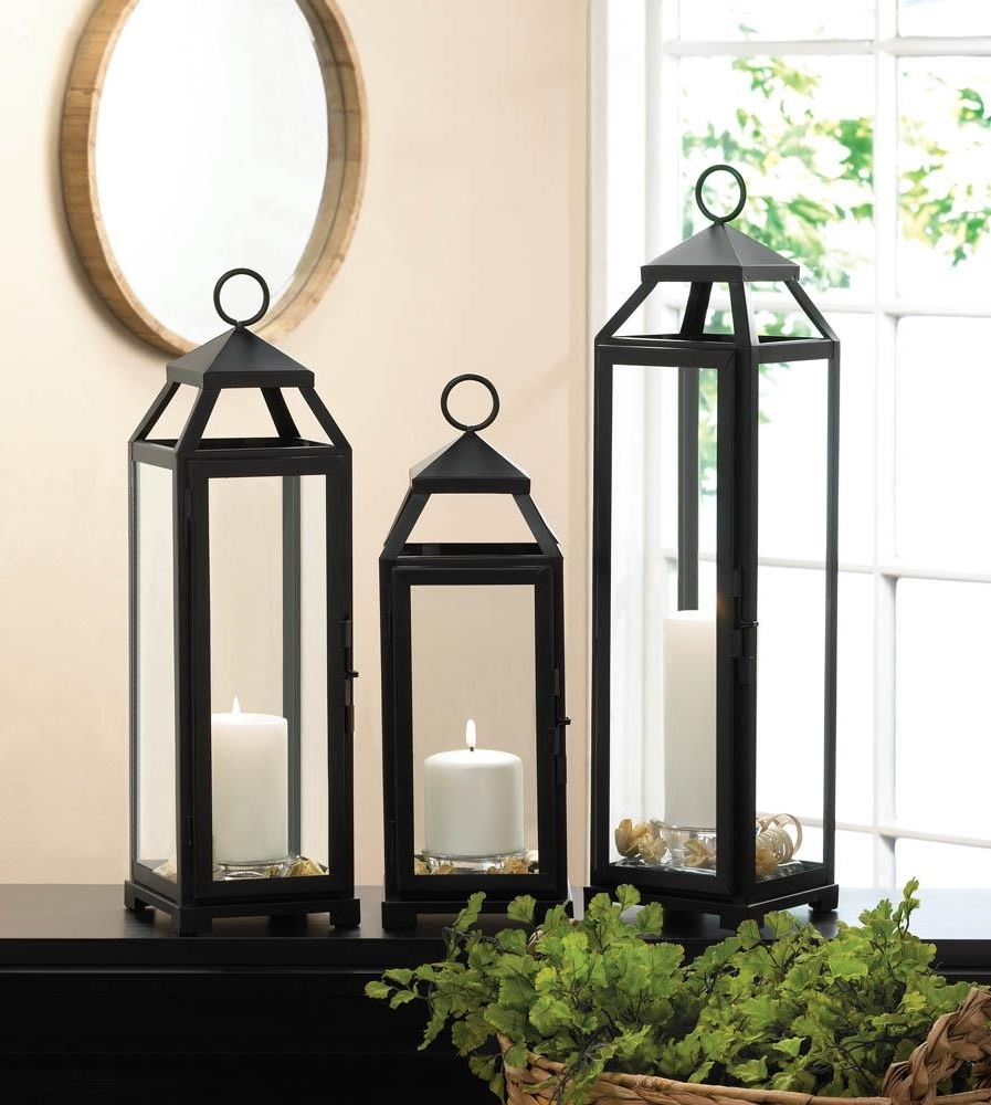 Xl Outdoor Lanterns Intended For Most Recently Released Lean & Sleek Candle Lantern Xl Wholesale At Koehler Home Decor (View 19 of 20)