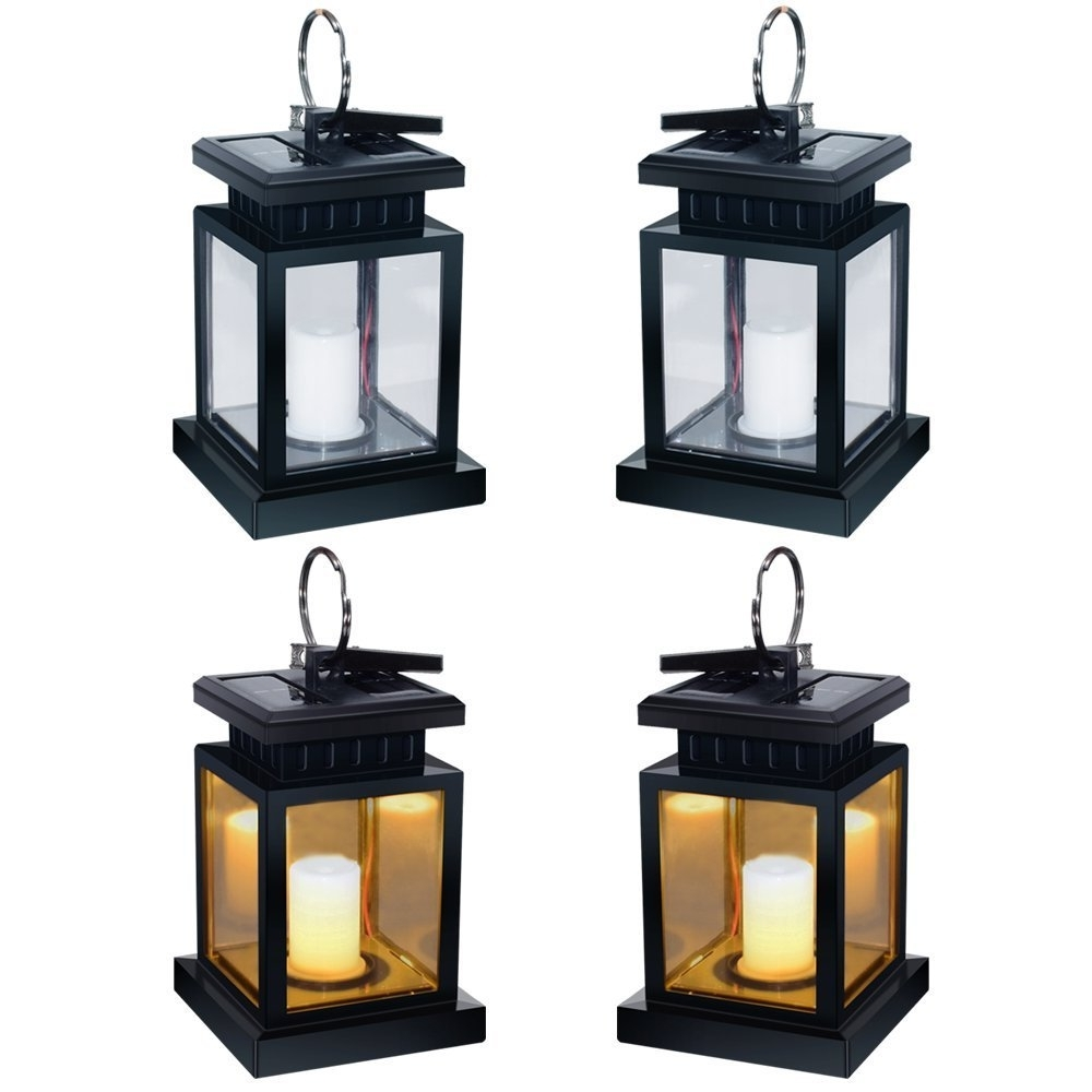 Yellow Outdoor Lanterns Intended For Preferred Andefine Hanging Solar Lanterns Outdoor Led Umbrella Lights (View 11 of 20)