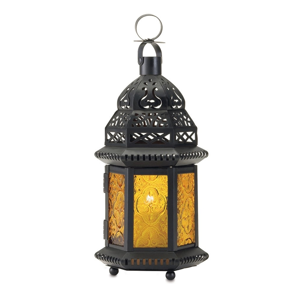 Yellow Outdoor Lanterns With Regard To Popular Moroccan Lantern Holder, Decorative Moroccan Lanterns Outdoor (View 19 of 20)