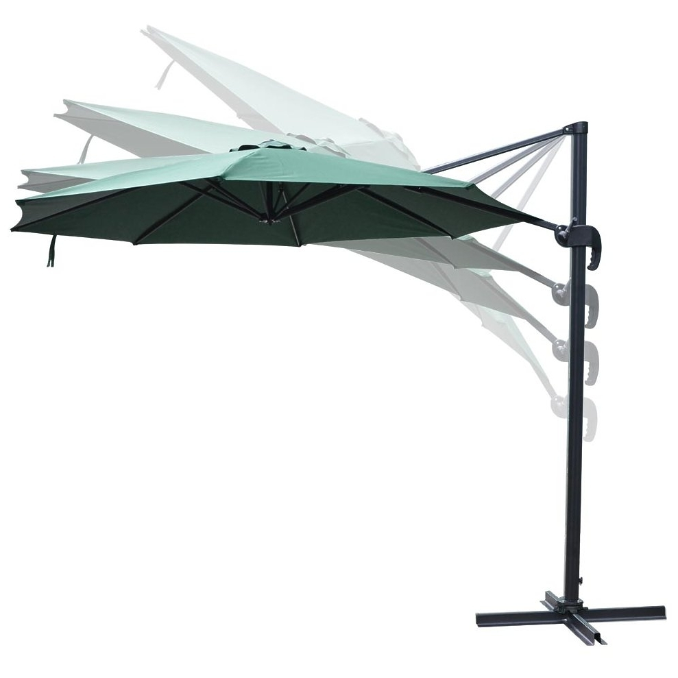 Yescom 10ft Green Hanging Offset Roma Outdoor Patio Umbrella Uv30+ Within Favorite Yescom Patio Umbrellas (View 11 of 20)