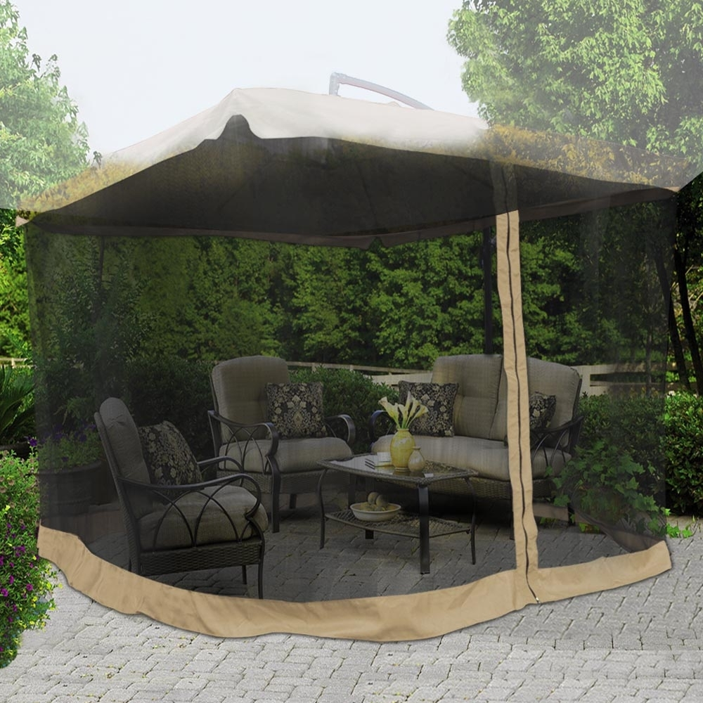 Yescom 9Ft Umbrella Mosquito Net Outdoor Patio Mesh Screen Anti Within Most Recent Patio Umbrellas With Netting (View 20 of 20)