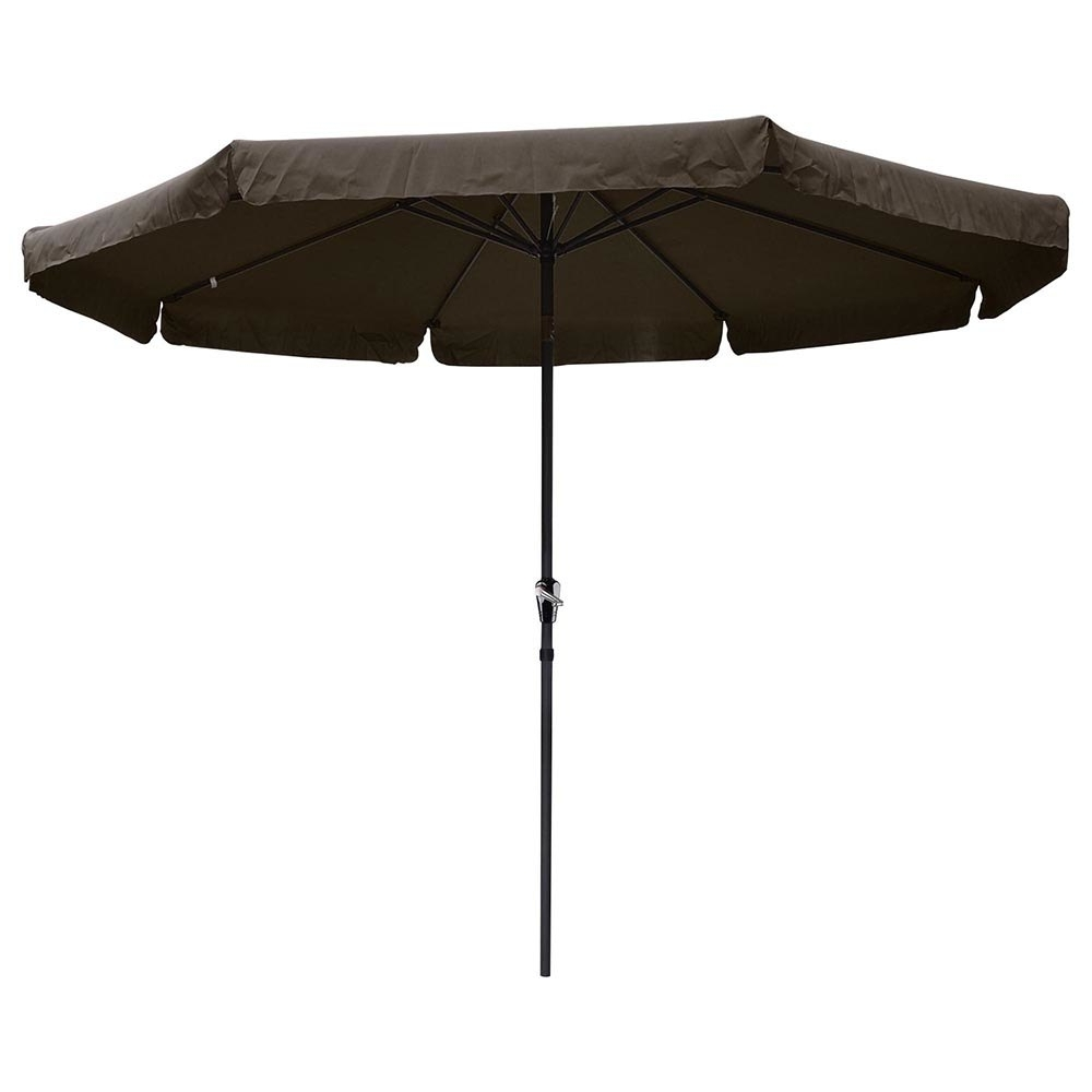 Yescomusa: 10' Aluminum Outdoor Patio Umbrella W/ Valance Crank Tilt With Well Known Patio Umbrellas With Valance (Gallery 7 of 20)