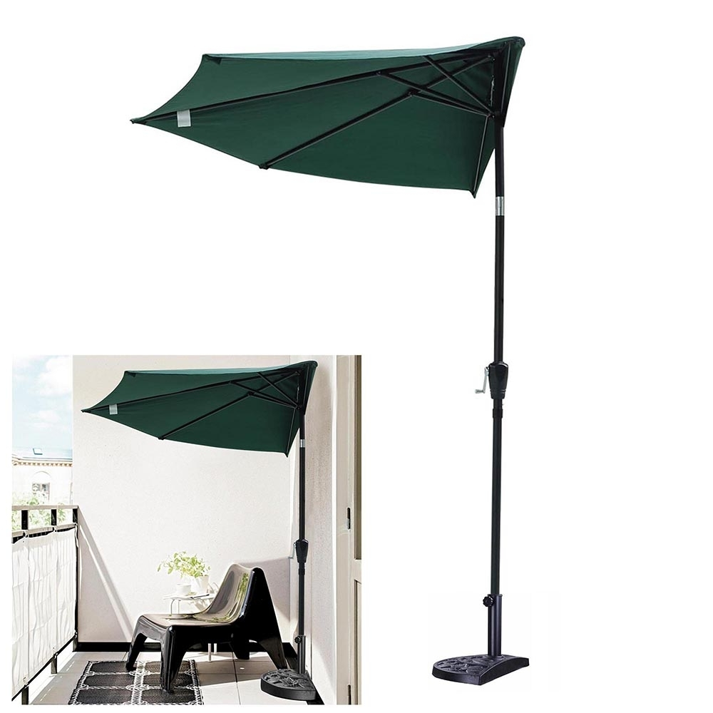 Yescomusa: 10Ft Outdoor Patio Half Umbrella 5 Ribs Tilt Aluminum Sun Regarding Latest Yescom Patio Umbrellas (View 14 of 20)