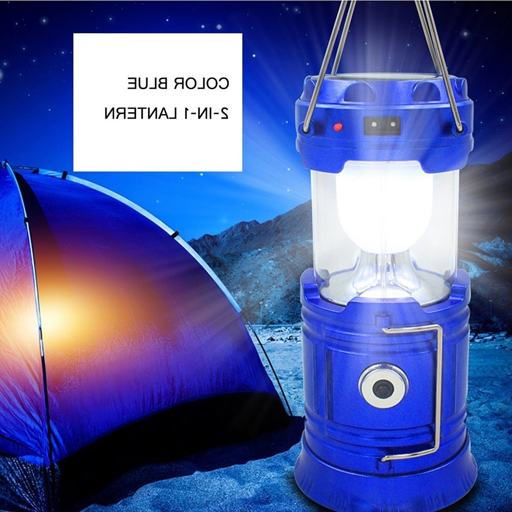 Zk20 Portable Solar Charger Camping Lantern Lamp Led Outdoor Regarding Recent Outdoor Rechargeable Lanterns (View 20 of 20)