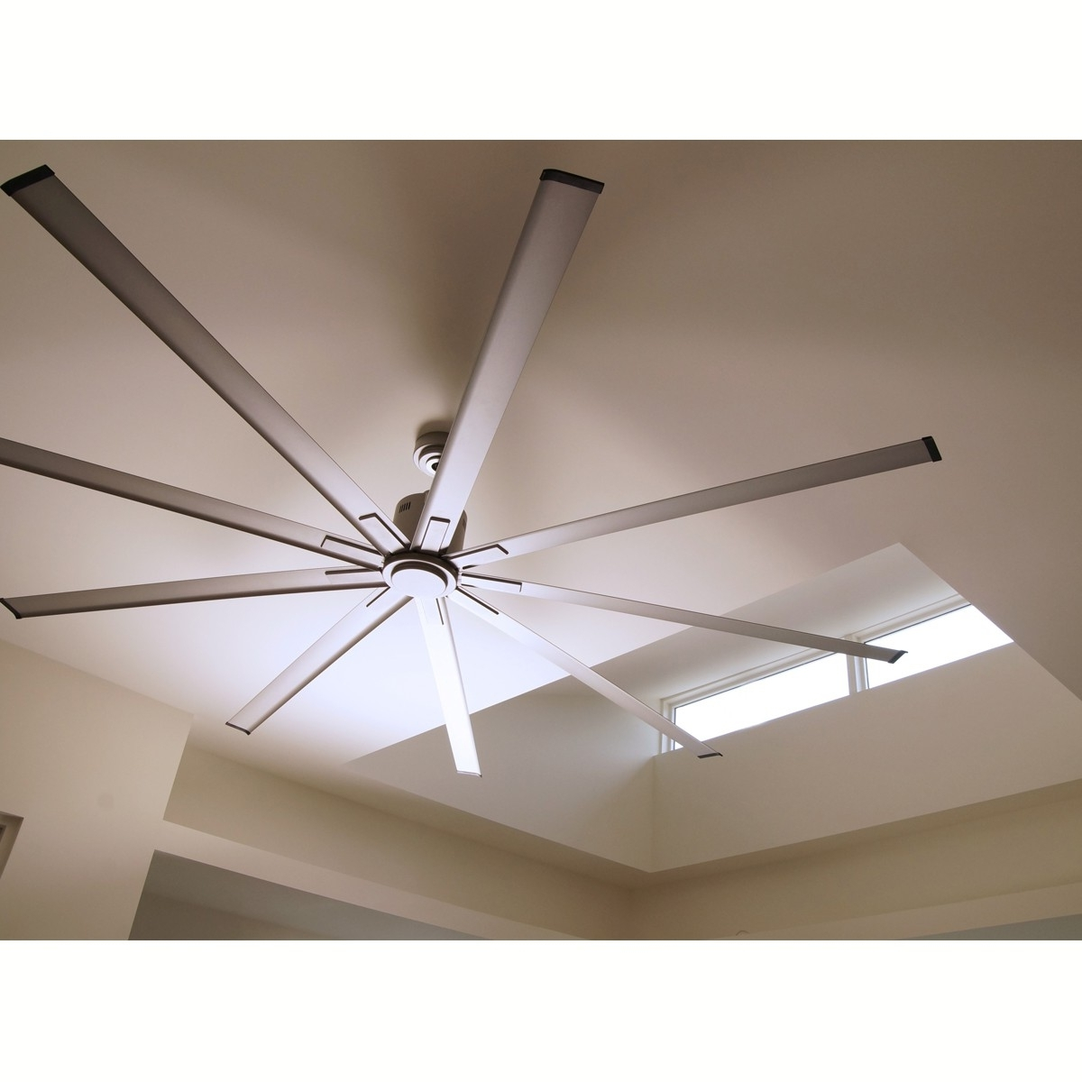 20 72 Ceiling Fan, 72 In 8 Blade Brushed Nickel Led Ceiling Fan With Within 2018 72 Predator Bronze Outdoor Ceiling Fans With Light Kit (View 15 of 20)