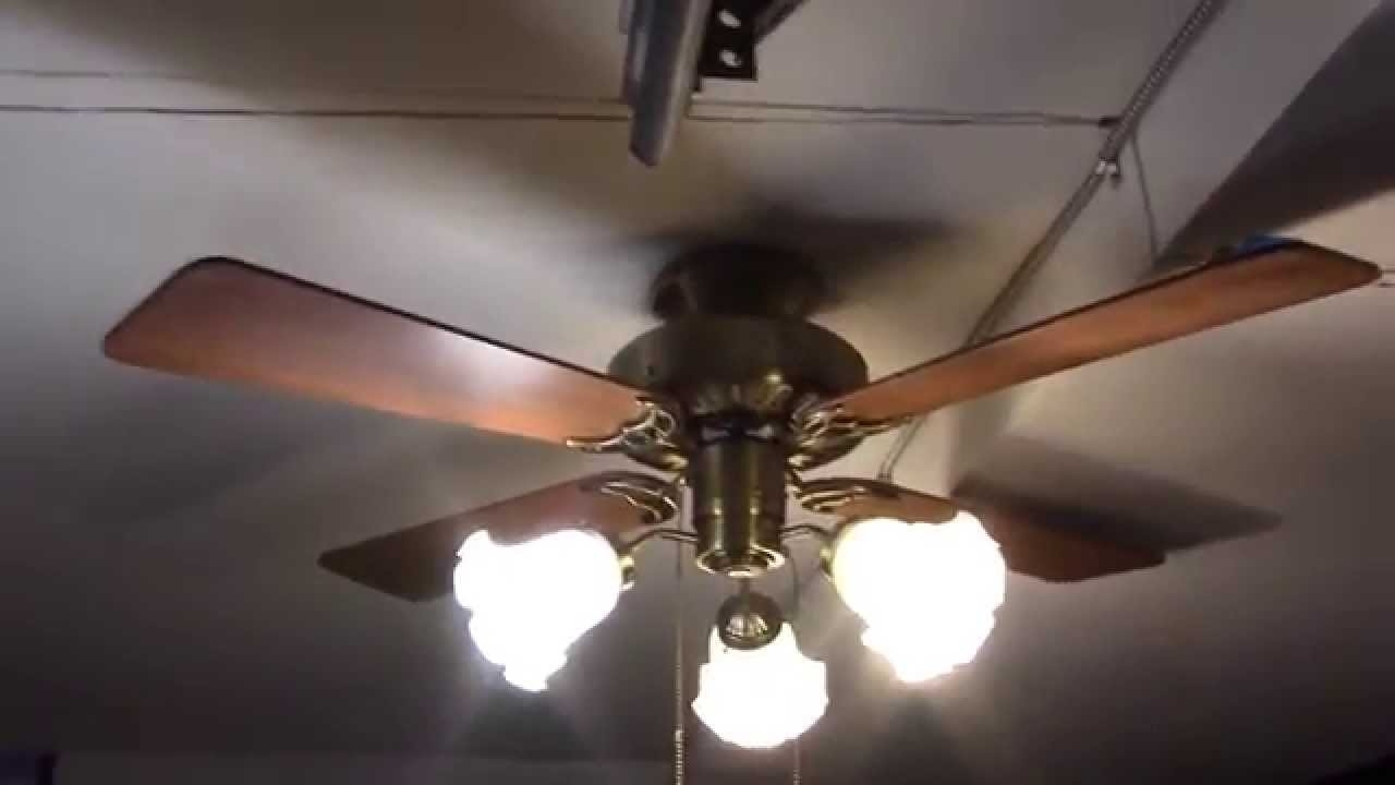 "2018 42"" Hunter Coastal Breeze Ceiling Fan – Youtube In Gold Coast Outdoor Ceiling Fans (View 16 of 20)"