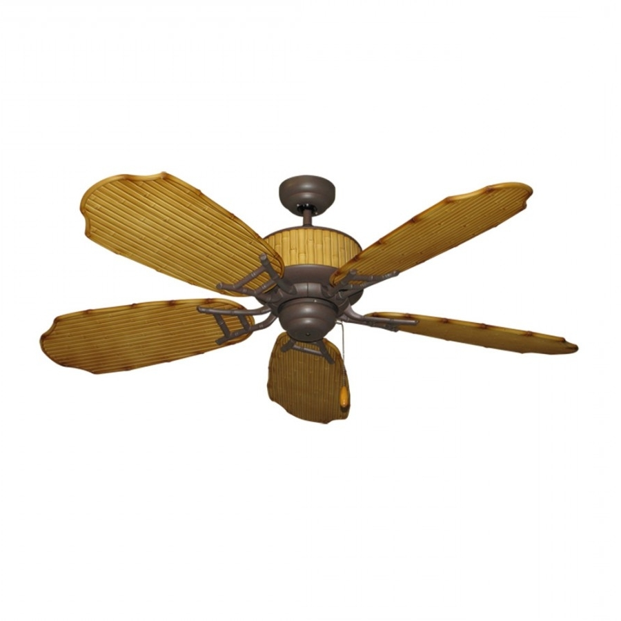 2018 Gulf Coast Fans, Cabana Breeze, Outdoor Ceiling Fan Pertaining To Tropical Outdoor Ceiling Fans With Lights (Gallery 8 of 20)