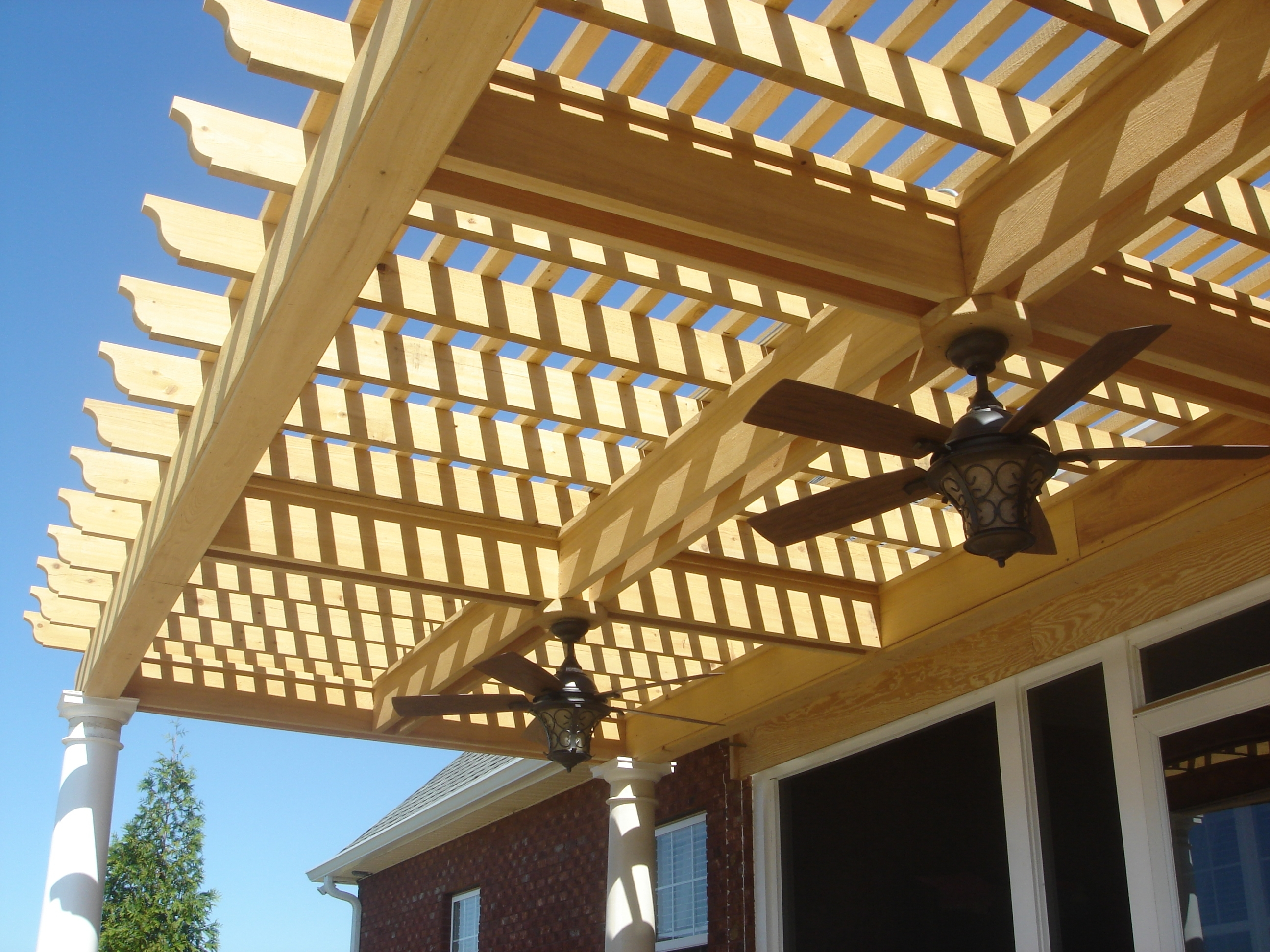 2018 How To Add Lights To A Deck, Screened Porch Or Pergolaarchadeck Intended For Outdoor Ceiling Fans Under Pergola (Gallery 5 of 20)
