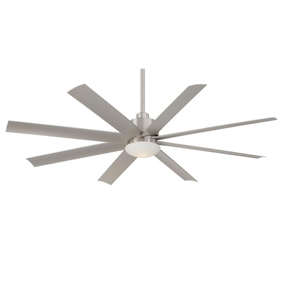 2018 Large Outdoor Ceiling Fans With Lights Within Minka Ceiling Fan 65 Inch Slipstream – 3 Finishes, F888 Orb, F (View 2 of 20)