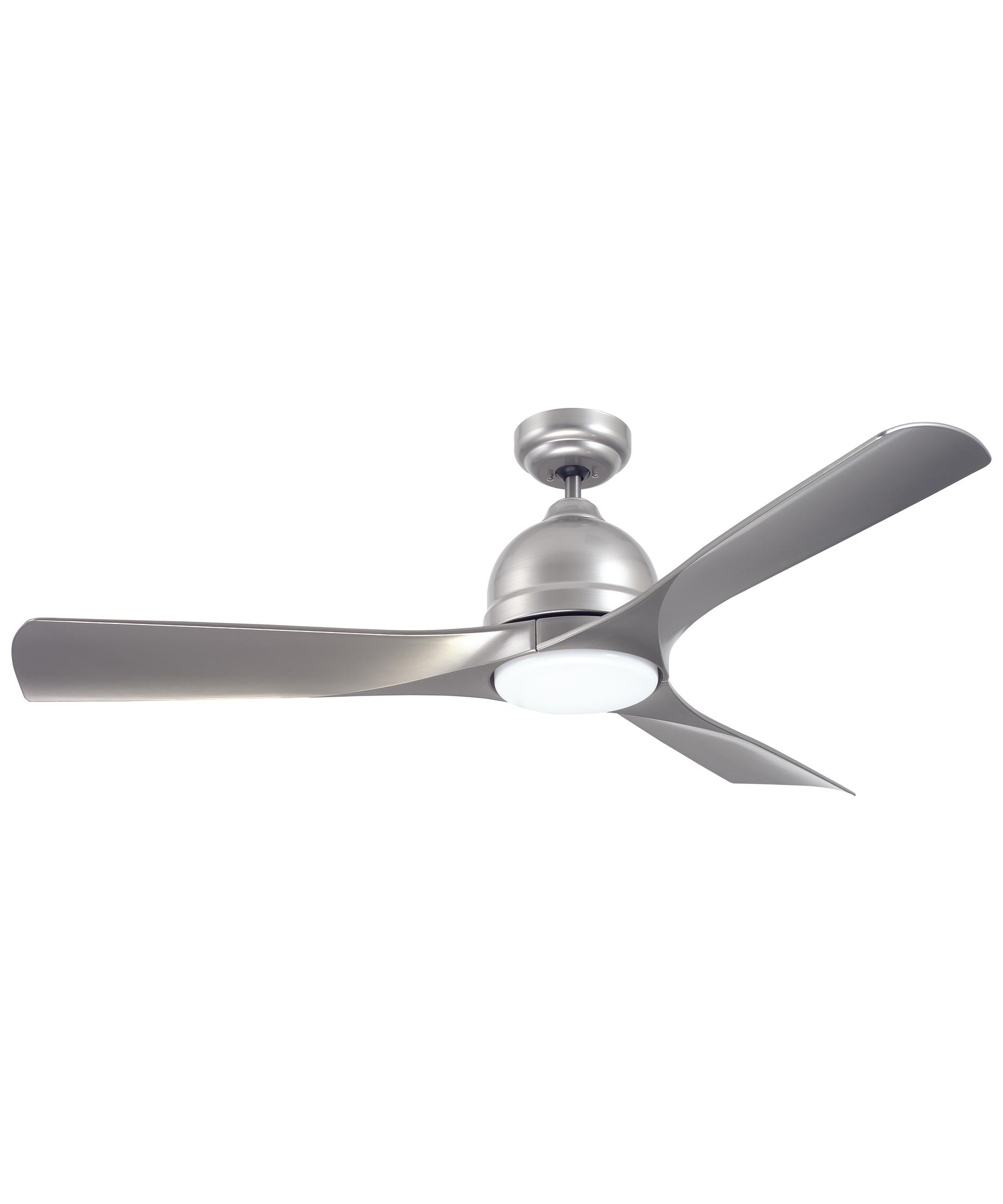 2018 Modern Outdoor Ceiling Fans With Lights Inside Emerson Cf590 Volta 54 Inch 3 Blade Ceiling Fan (Gallery 3 of 20)