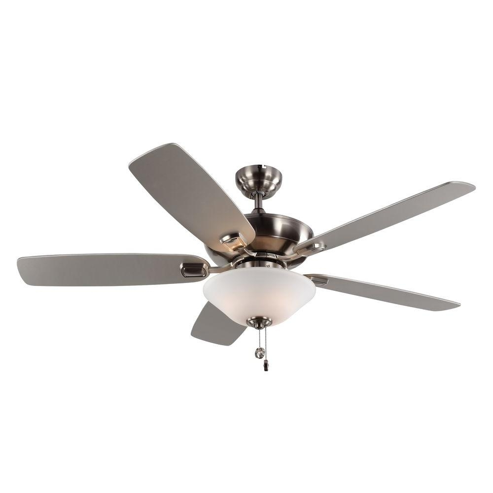 2018 Monte Carlo Colony Max Plus 52 In. Indoor/outdoor Brushed Steel Inside Outdoor Ceiling Fans With Lantern Light (Gallery 16 of 20)