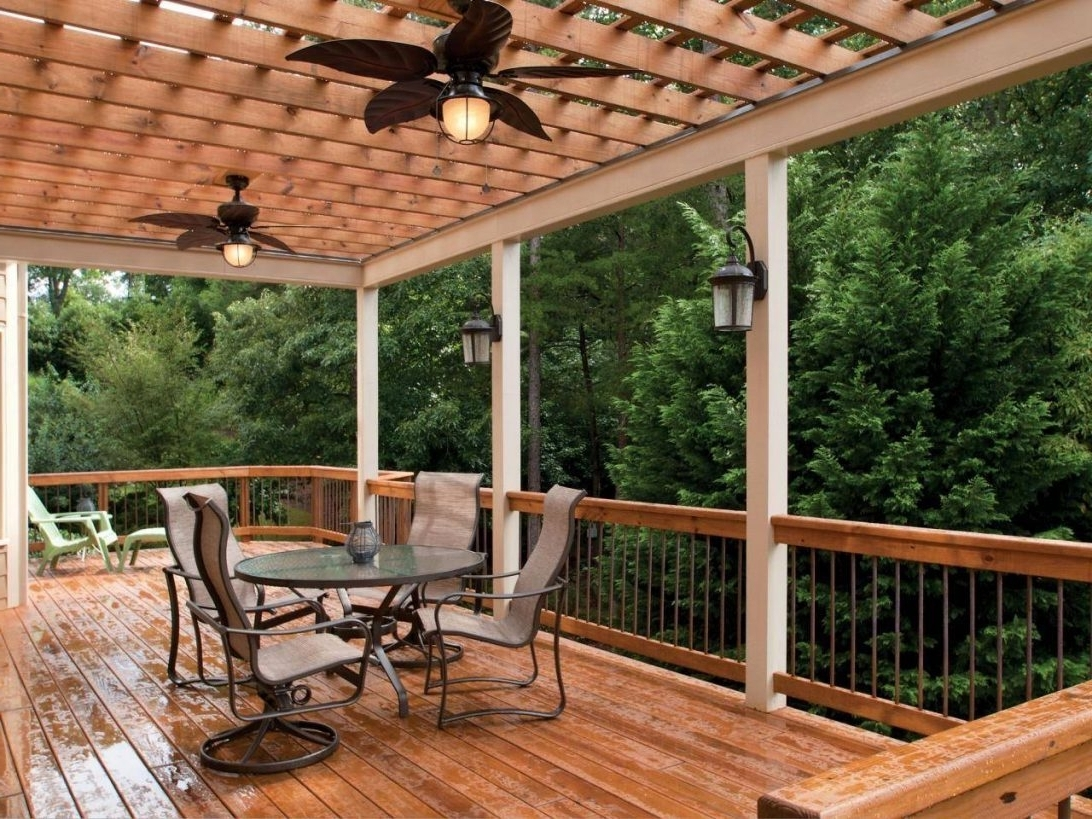 2018 Outdoor Ceiling Fans For Decks Intended For Outdoor Deck Ceiling Fans • Decks Ideas (Gallery 1 of 20)