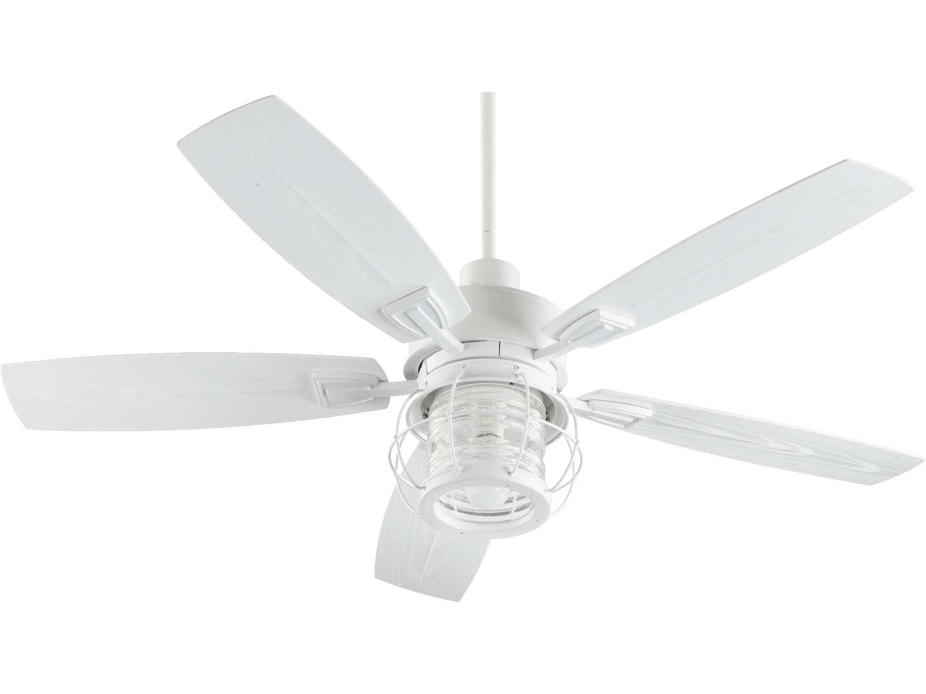 2018 Quorum International Galveston Studio White 52 Inch Outdoor Ceiling In Quorum Outdoor Ceiling Fans (View 15 of 20)