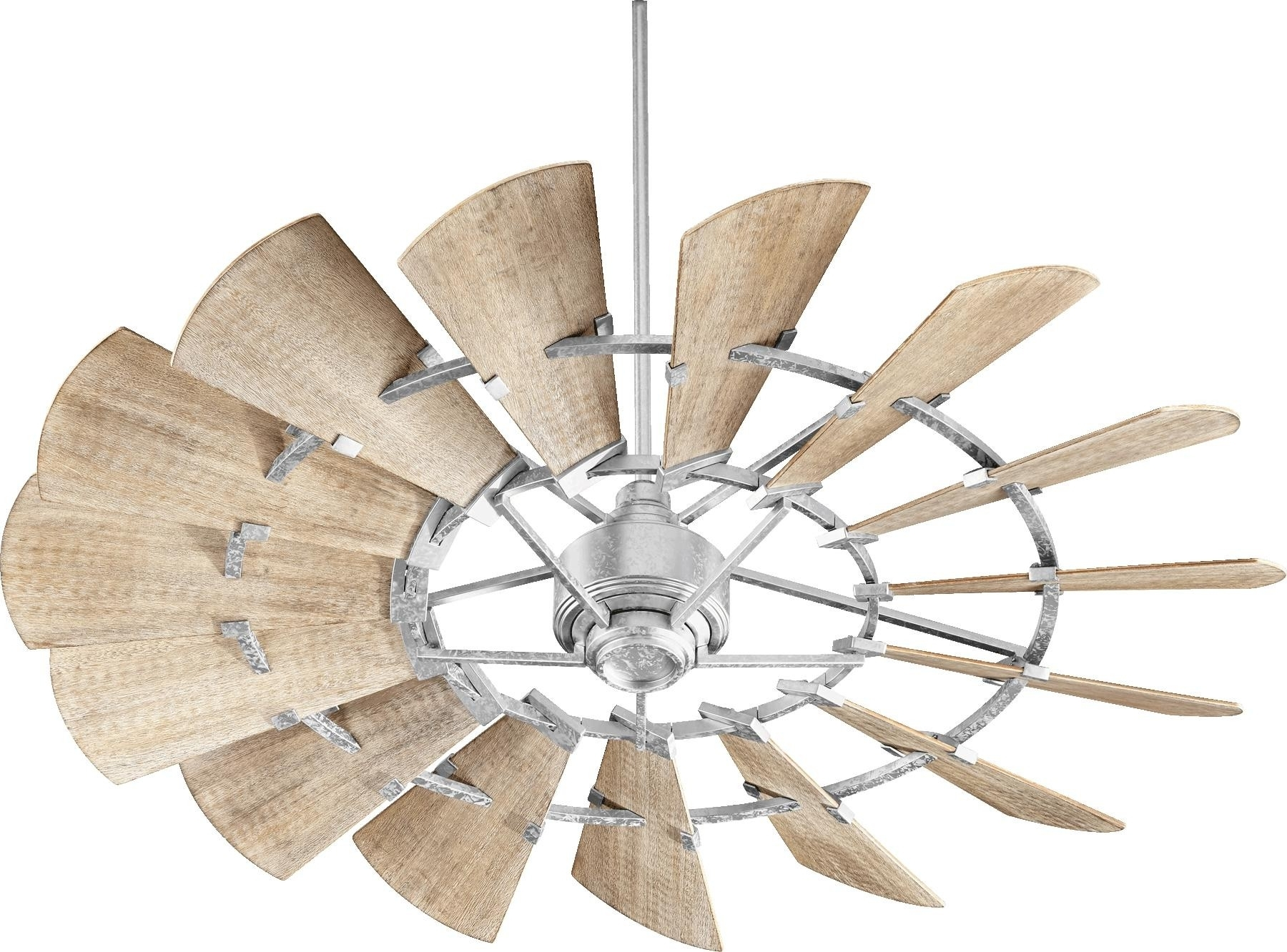2018 Quorum Windmill Ceiling Fan Model 196015 9 In Galvanized With Quorum Outdoor Ceiling Fans (Gallery 10 of 20)