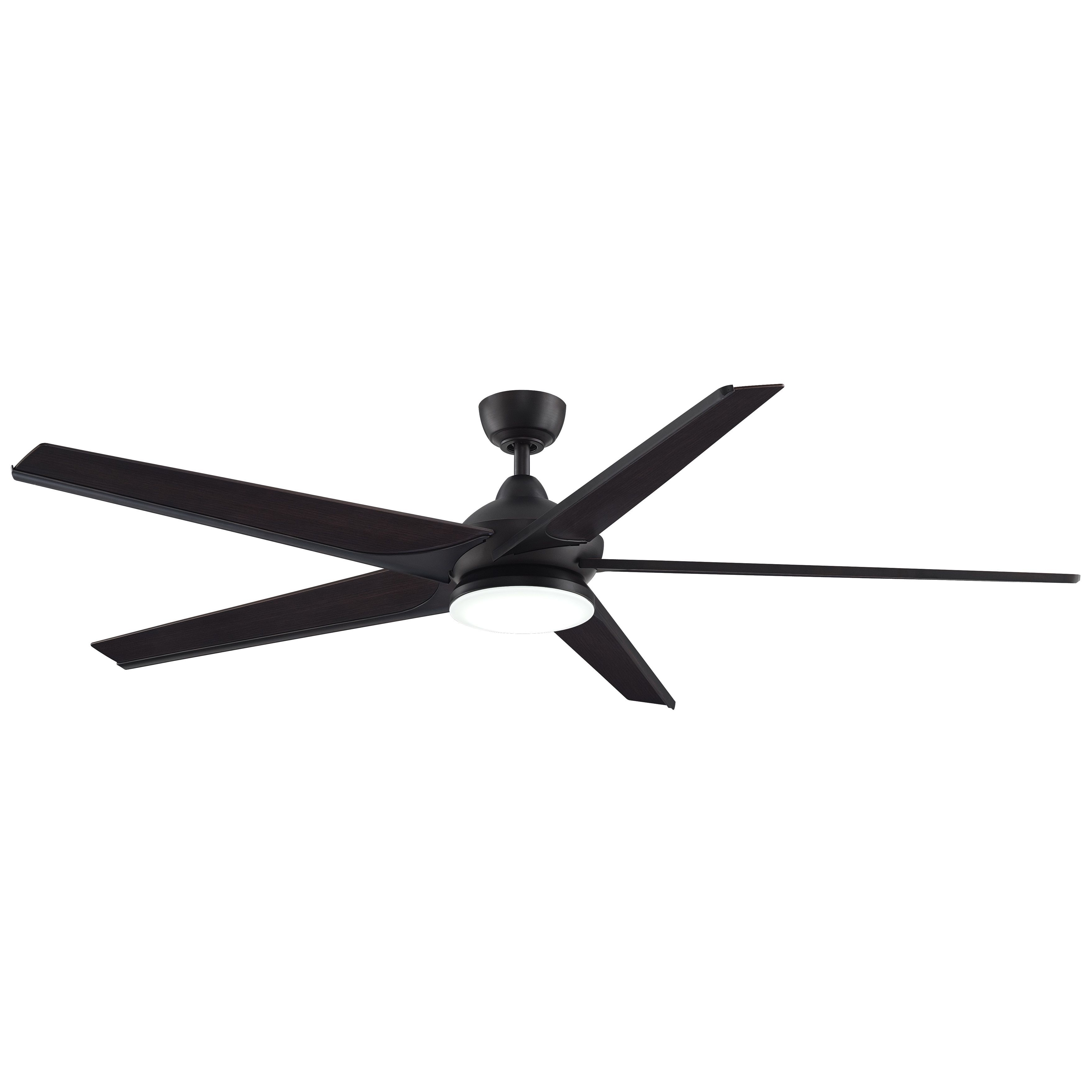 2018 Subtle – 72 Inch Ceiling Fan With Led (Dark Bronze With Bourbon Wood Regarding 72 Inch Outdoor Ceiling Fans With Light (Gallery 6 of 20)