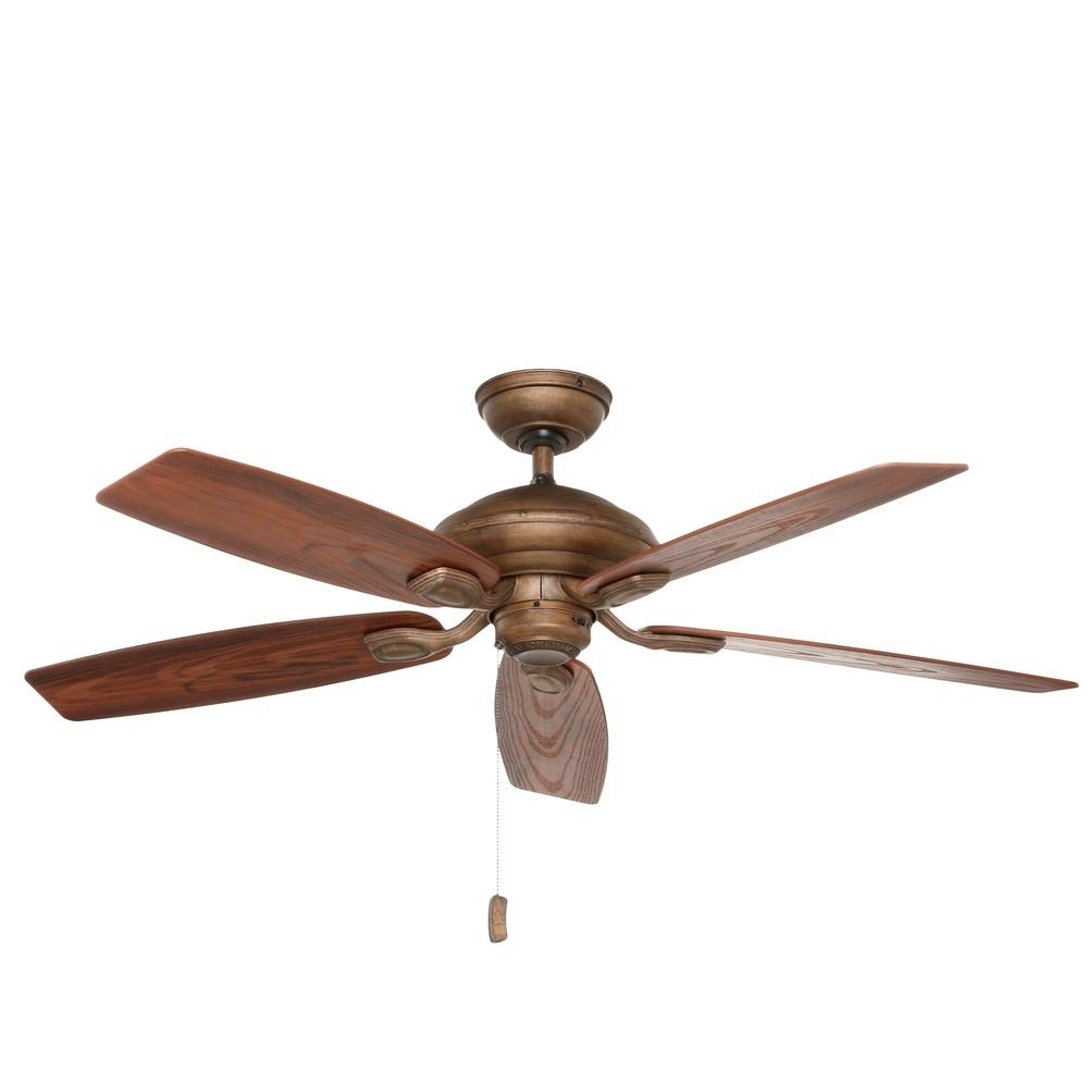 2019 Casablanca Outdoor Ceiling Fans With Lights With Regard To Casablanca Utopian 52 In. Indoor/outdoor Aged Bronze Ceiling Fan (Gallery 8 of 20)