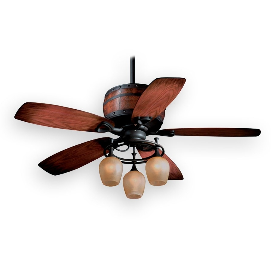 "2019 Metal Outdoor Ceiling Fans With Light With Regard To Vaxcel 52"" Cabernet Ceiling Fan (Gallery 19 of 20)"