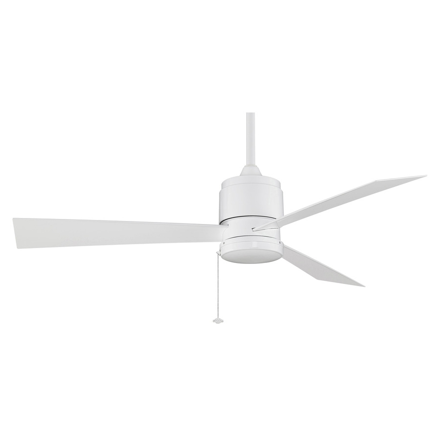 2019 Outdoor Ceiling Fans For Wet Areas Within Shop Fanimation Zonix Wet 52 In White Indoor/outdoor Downrod Mount (View 2 of 20)